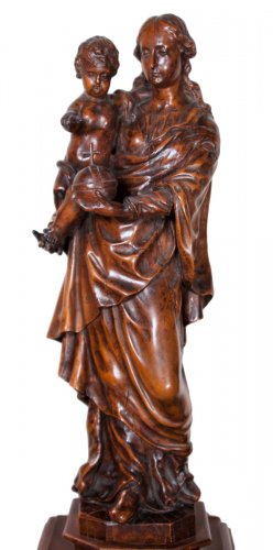 Virgin and child figure, circa 1700
