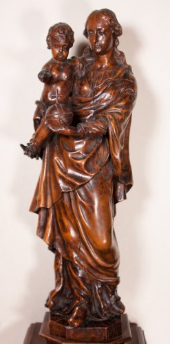 Virgin and child figure, circa 1700 - Sculpture Style Louis XIV