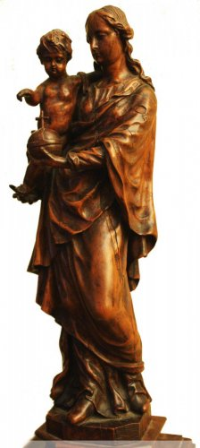 17th century - Virgin and child figure, circa 1700