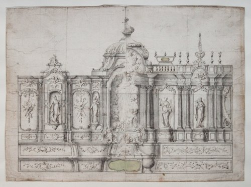 Project for a choir's decoration, c. 1730-1740