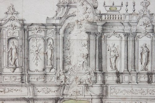 Project for a choir's decoration, c. 1730-1740 - Paintings & Drawings Style Louis XV