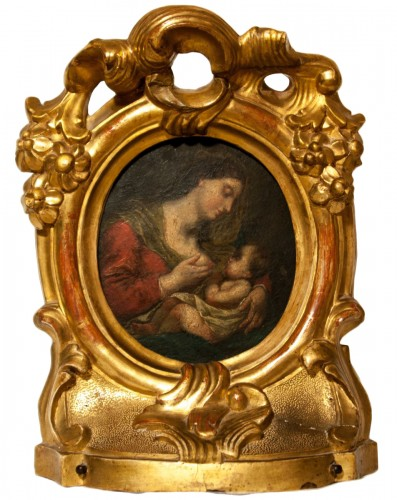 Virgin and child, end of 17 th c.