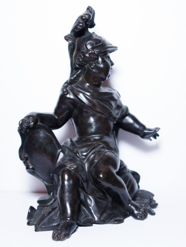 18th century - Pair of allegorical bronze figures, French Regence period