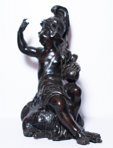 French Regence - Pair of allegorical bronze figures, French Regence period