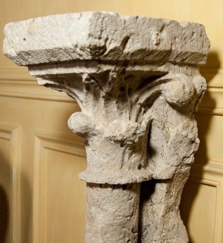 Sculpture  - 13 th century pair of gothic columns
