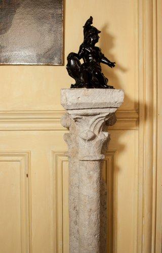 13 th century pair of gothic columns -