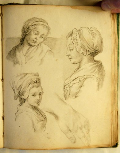 Anonymous sketchbook of the mid-eighteenth century - Paintings & Drawings Style Louis XV