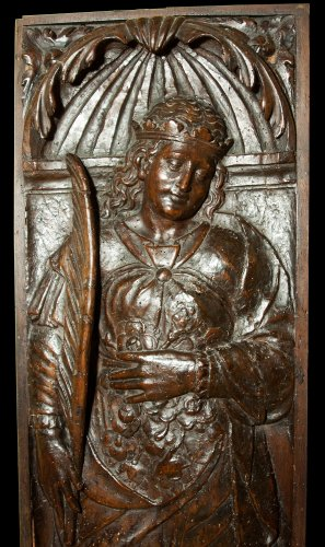 Renaissance panel with st. elizabeth of hungary