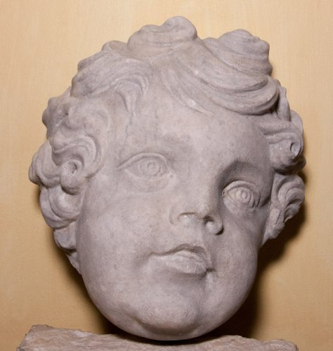 18th century - Marble head of a putto, circa 1700