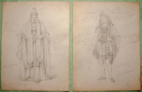 Models of opera costumes by Eugène Lami