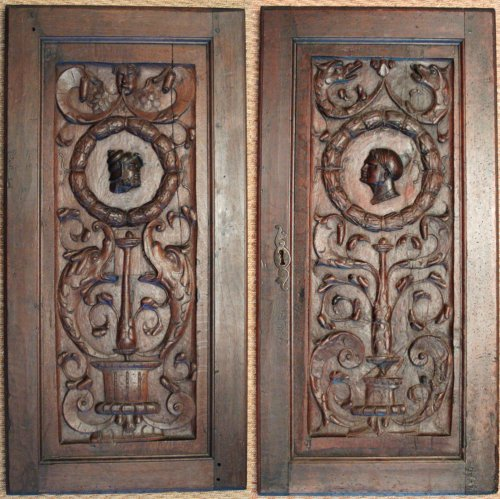 French Renaissance Wood Panels, Circa 1550