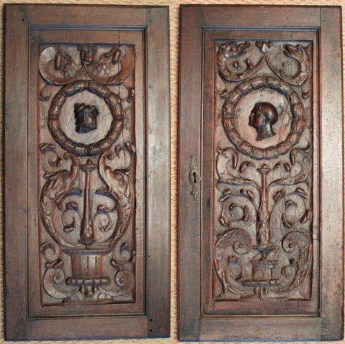 French Renaissance Wood Panels, Circa 1550