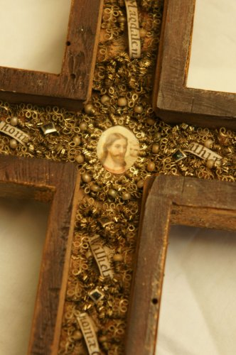 18th c. reliquary cross from Austria -