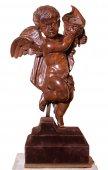 Allegorical angel in walnut, circa 1700