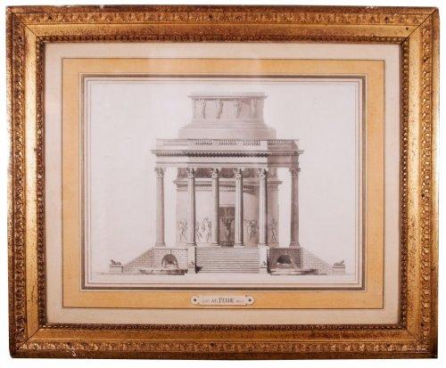 Project of octagonal building attr. to Antoine-François Peyre circa 1780