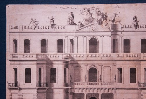 Project for a castle circa 1730-1760 - Paintings & Drawings Style Louis XV