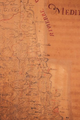 Paintings & Drawings  - Rare military map of the Riviera - Côte d'Azur circa 1740-1750
