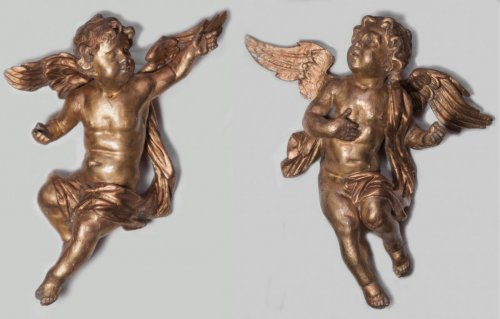 Pair of Giltwood angels - 18th century
