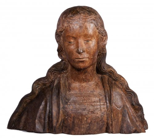 Bust of the Virgin or Saint, 1500-1520 North France