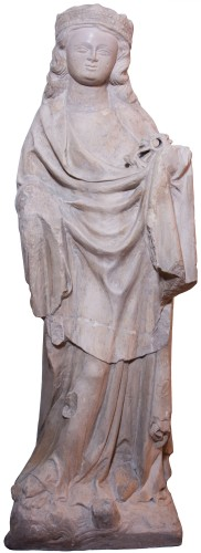 Limestone statue of St. Catherine, early 14th century