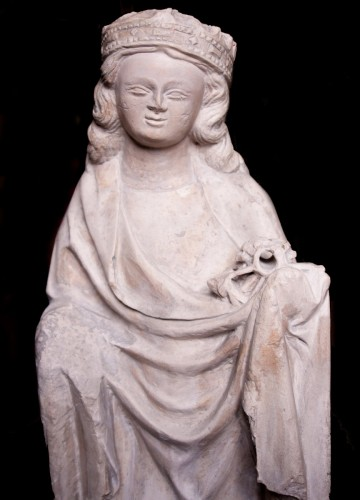 Sculpture  - Limestone statue of St. Catherine, early 14th century