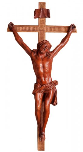 Large boxwood Christ, Italy circa 1800