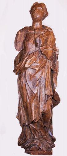 18th century - Pair of allegorical figures in oak, circa 1730