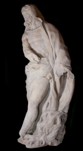 Allegorical Statue of Winter in Marble, circa 1700  - Sculpture Style Louis XIV