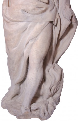 Louis XIV - Allegorical Statue of Winter in Marble, circa 1700