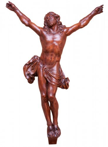 Fruitwood Christ corpus attributed to César Bagard (1620-1709)