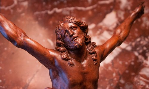 Fruitwood Christ corpus attributed to César Bagard (1620-1709) -