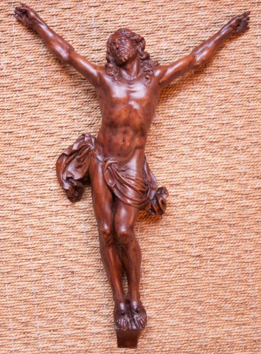 17th century - Fruitwood Christ corpus attributed to César Bagard (1620-1709)