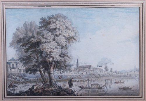 Animated Banks View, - R-B. de Baraignie, 1781