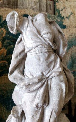 Sculpture  - Bozzetto of an allegory in terracotta, problably Hebe, France  circa 1700