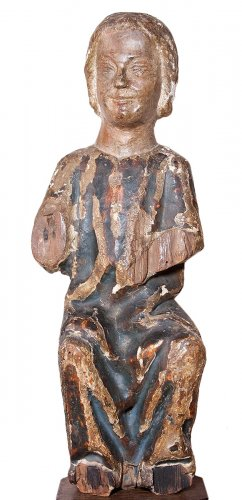 Child Jesus in painted and gilt wood, 13th century