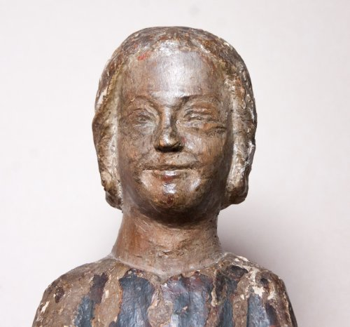 Child Jesus in painted and gilt wood, 13th century - Sculpture Style Middle age