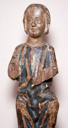 Sculpture  - Child Jesus in painted and gilt wood, 13th century