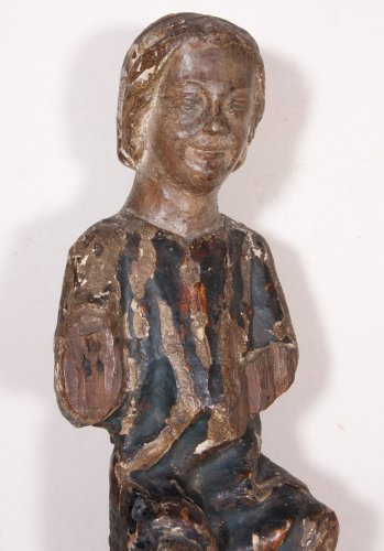 Child Jesus in painted and gilt wood, 13th century -