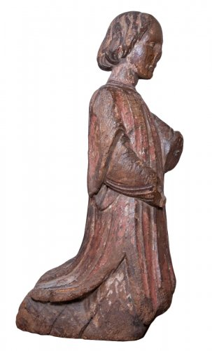 Figure of kneeling angel, early 14th century