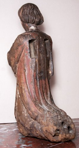 Figure of kneeling angel, early 14th century - Sculpture Style Middle age