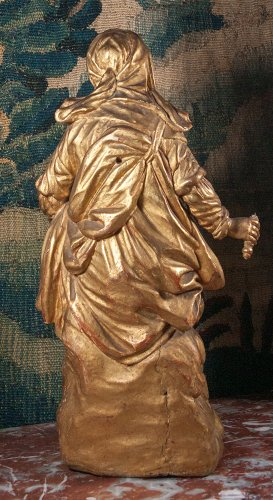 Virgin and Child in carved and gilt wood, circa 1700 -