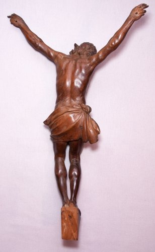 Religious Antiques  - Large fruitwood Christ corpus, early 18th century