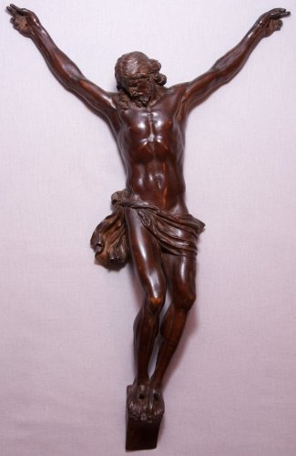 Large fruitwood Christ corpus, early 18th century -