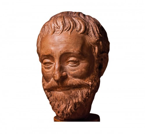 Head of a bearded man in terracotta, late 16th century