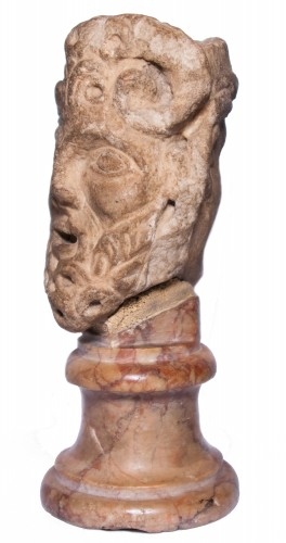 Sculpture  - Janiform marble head, Italy, 14th-15th century