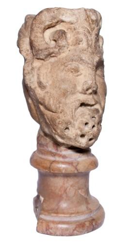 Janiform marble head, Italy, 14th-15th century -