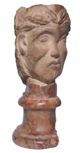 16th century - Janiform marble head, Italy, 14th-15th century