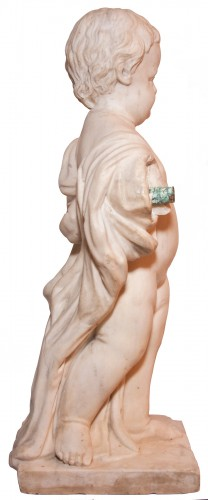 Marble child statue, Italy, late 18th century - Sculpture Style
