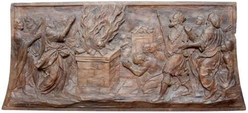 Relief depicting Elijah and Ahab at Mount Carmel c. 1700