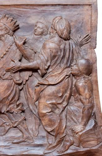 Sculpture  - Relief depicting Elijah and Ahab at Mount Carmel c. 1700